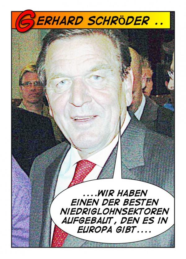 Gerhard Schröder Halftone